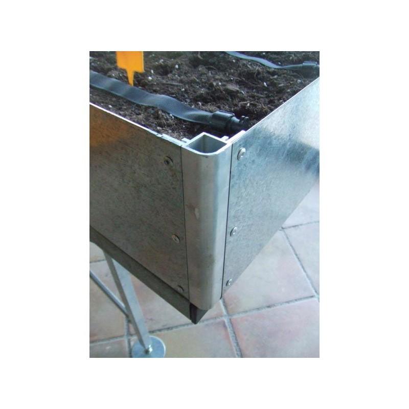 Detalle mesa de cultivo Galvanizada- Pequeña