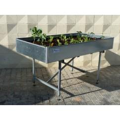 Mesa de cultivo galvanizada - grande