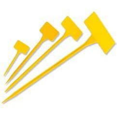 Etiqueta para plantar 15cm amarillo