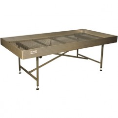 Mesa de cultivo para macetas en aluminio con mallazo