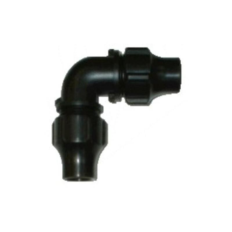 Codo 90 para tubo de PE 16mm (ext.)